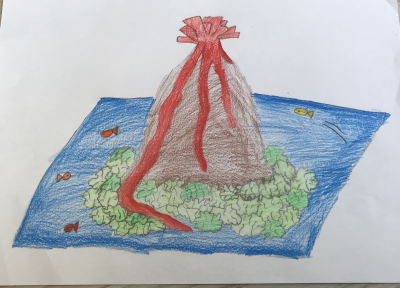 Year 3 Week 4 Drawing of your volcano amy